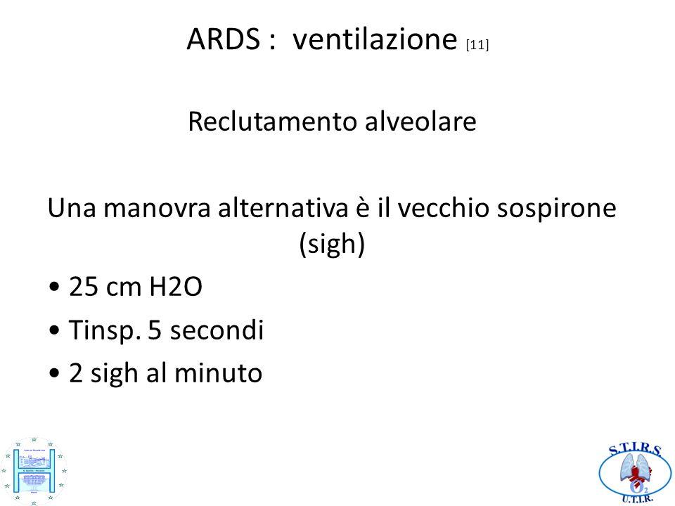 ARDS : ventilazione [11] Reclutamento alveolare